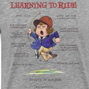 Thelwell - Learning to ride  - Camiseta premium hombre