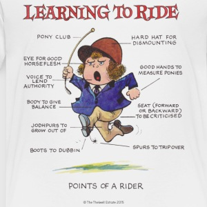 Thelwell - Learning to ride T-Shirts - Kinder Premium T-Shirt