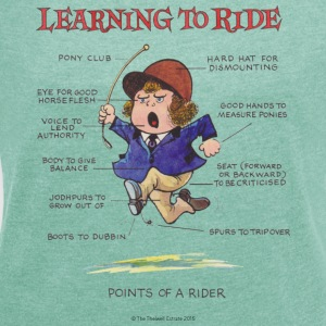 Thelwell - Learning to ride T-Shirts - Frauen T-Shirt mit gerollten Ärmeln