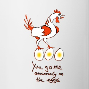 On the eggs  - Tasse zweifarbig