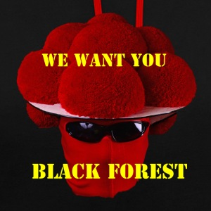 Black Forest - WE WANT YOU - Kontrast-Hoodie