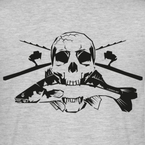 JSA Fishing Skull (L) black in high quality T-Shirts - Männer T-Shirt