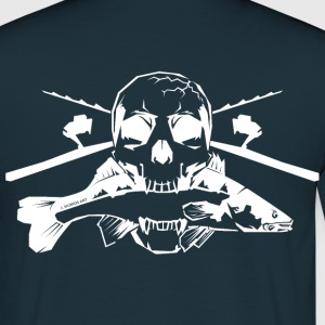 JSA Fishing Skull (R) white in high quality! T-Shirts - Männer T-Shirt