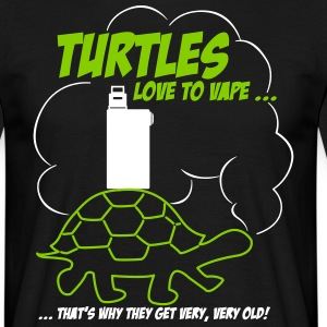 TURTLES love to vape ... T-Shirt - Herre-T-shirt