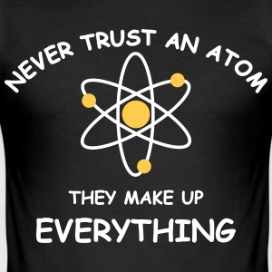 Never trust an atom 2 col T-shirts - Herre Slim Fit T-Shirt