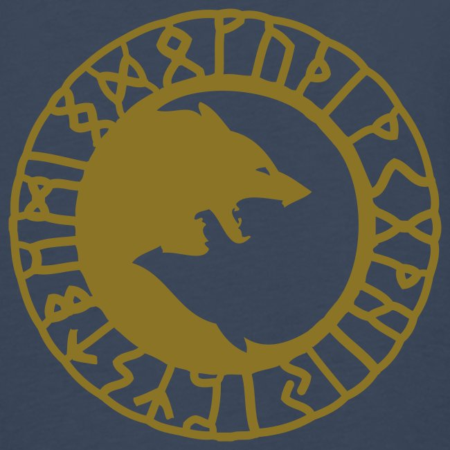 T-shirt ML homme avec loups et runes