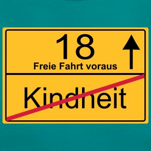 """Geburtstag T-Shirts mit """"18 Jahre Ortsschild"""""""