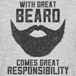 With Great Beard Comes Great Responsibility T-skjorter - T-skjorte for menn