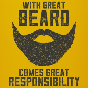With Great Beard Comes Great Responsibility Kopper & tilbehør - Ensfarget kopp