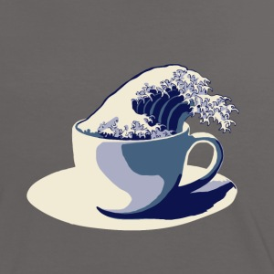 Coffee Wave T-Shirts - Frauen Kontrast-T-Shirt
