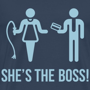 She's The Boss! (Wife & Husband) T-Shirts - Men's Premium T-Shirt
