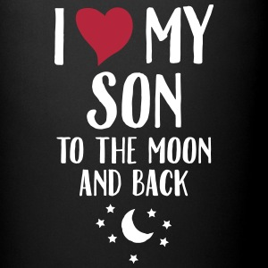 I Love (Heart) My Son To The Moon And Back Muggar & tillbehör - Enfärgad mugg