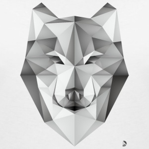 AD Geometric Wolf T-Shirts - Women's V-Neck T-Shirt