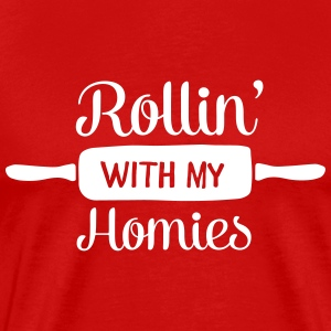 Rollin' With My Homies T-shirts - Herre premium T-shirt