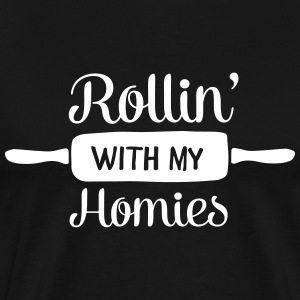 Rollin' With My Homies T-shirts - Mannen Premium T-shirt