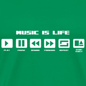 music is life Tee shirts - T-shirt Premium Homme