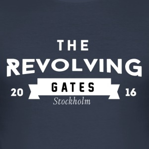 Rock n roll t-shirt by the Revolving Gates - Slim Fit T-shirt herr