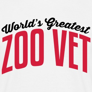 worlds greatest zoo vet 2col copy - Men's T-Shirt
