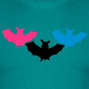 silhuet bat halloween rædsel Outline Design Shape  T-shirts - Herre-T-shirt