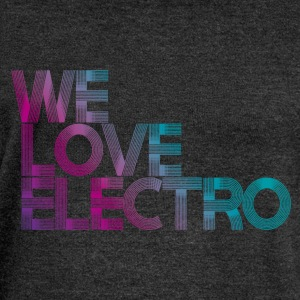 we love electro - Felpa con scollo a barca da donna, marca Bella