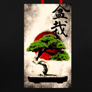 Bonsai contre Imprimer japonaise drapeau Art Sweat-shirts - Sweat-shirt contraste
