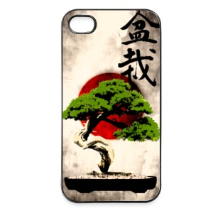 Bonsai mod japansk flag Kunsttryk Mobil- & tablet-covers - iPhone 4/4s Hard Case