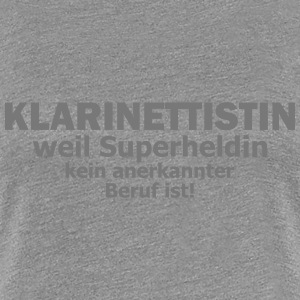 klarinettistin T-Shirts - Frauen Premium T-Shirt