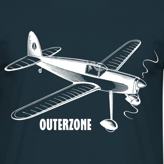 Outerzone t-shirt, white logo
