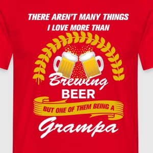 This Grampa Loves Homebrew T-Shirts - Men's T-Shirt