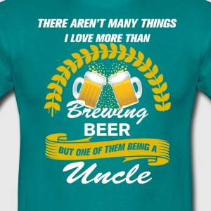This Uncle Loves Brewing Beer T-Shirts - Men's T-Shirt