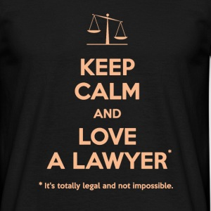 Love a lawyer - T-shirt Homme