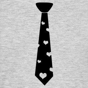 Black tie with heart T-Shirts - Men's T-Shirt