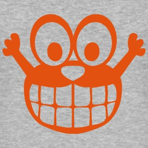 Happy comic smiley character T-Shirts - Men's Slim Fit T-Shirt