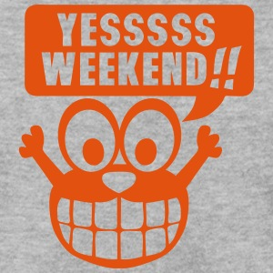 yes yessss weekend citation smiley Sweat-shirts - Sweat-shirt Homme