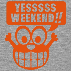 yes yessss weekend citation smiley Manches longues - T-shirt manches longues Premium Homme