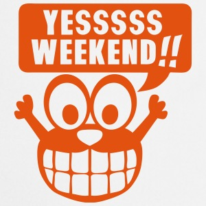 yes yessss weekend citation smiley Tabliers - Tablier de cuisine
