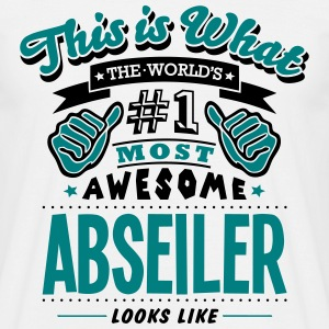 abseiler world no1 most awesome copy - Men's T-Shirt