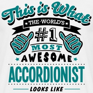accordionist world no1 most awesome copy - Men's T-Shirt