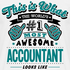 accountant world no1 most awesome copy - Men's T-Shirt