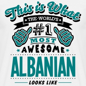 albanian world no1 most awesome copy - Men's T-Shirt