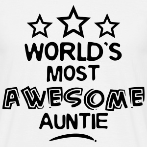 worlds most awesome auntie - Men's T-Shirt