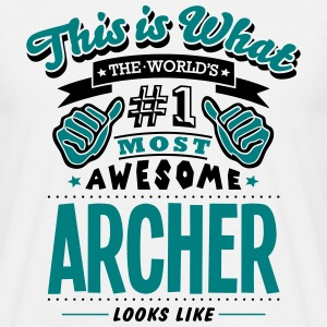 archer world no1 most awesome - Men's T-Shirt