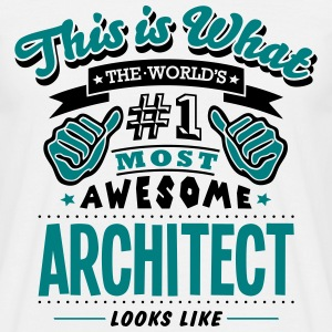 architect world no1 most awesome - Men's T-Shirt