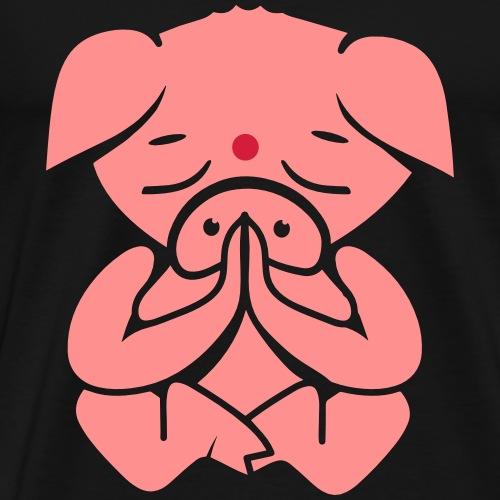 A pig meditating