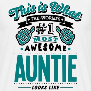 auntie world no1 most awesome - Men's T-Shirt