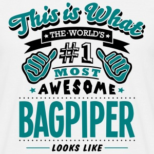 bagpiper world no1 most awesome - Men's T-Shirt