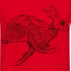 Running hare t-shirt