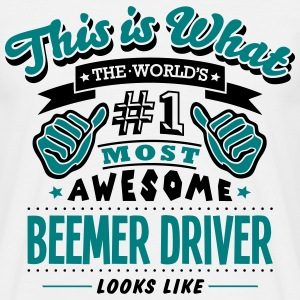 beemer driver world no1 most awesome cop - Men's T-Shirt