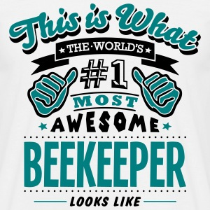beekeeper world no1 most awesome - Men's T-Shirt