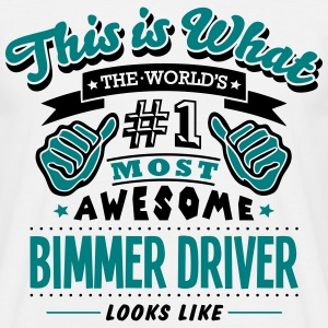 bimmer driver world no1 most awesome cop - Men's T-Shirt